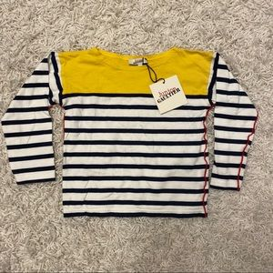 NWT! Junior Gaultier Cotton Striped Top - Size 4